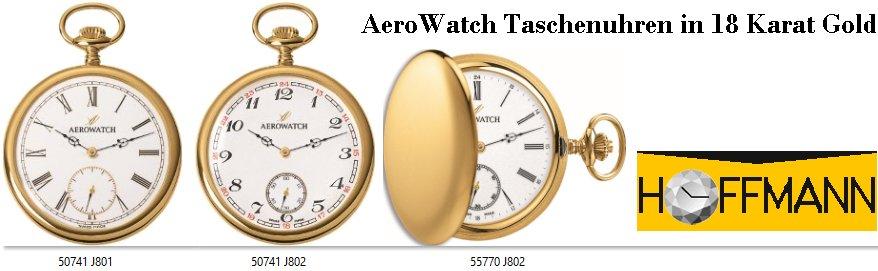AeroWatch-Taschenuhren-18-Karat-Gold