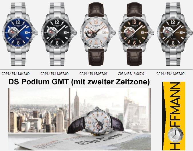 DS-Podium-GMT (mit zweiter Zeitzone)